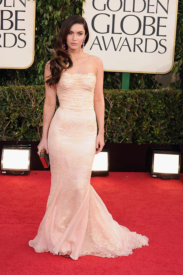 Megan Fox arrives at the 70th Annual Golden Globe Awards at the Beverly Hilton in Beverly Hills, CA on January 13, 2013.