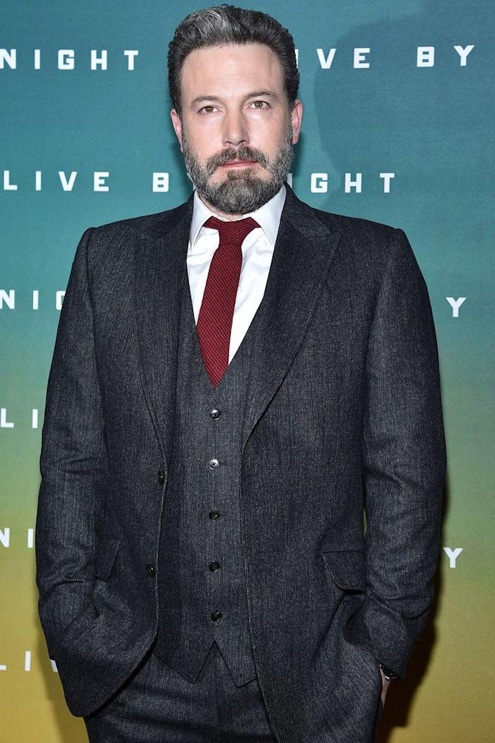 """<p>While the actor has continued to struggle with his alcohol addiction over the years, Afleck opened up earlier this year on his <a href=""""https://www.facebook.com/benaffleck/posts/1425085557565867"""" rel=""""nofollow noopener"""" target=""""_blank"""" data-ylk=""""slk:Facebook"""" class=""""link rapid-noclick-resp"""">Facebook</a> page in a post where he admits to completing treatment again in order to be the best father that he can be. The actor even brought a <a href=""""https://www.harpersbazaar.com/celebrity/latest/a21422/ben-affleck-took-a-sober-coach-to-oscars/"""" rel=""""nofollow noopener"""" target=""""_blank"""" data-ylk=""""slk:sober coach"""" class=""""link rapid-noclick-resp"""">sober coach</a> to the Oscars this year for support. </p>"""