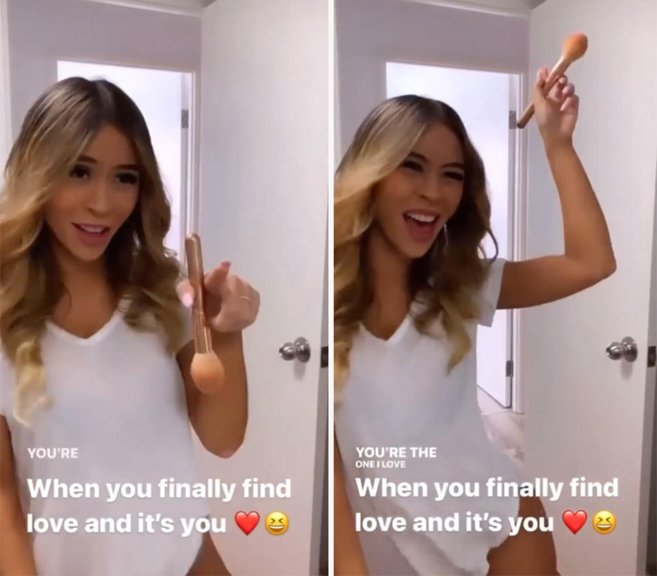 The 30-year-old teacher shared a video of herself dancing in front of the mirror to Beyoncé's 'Love on Top'. Photo: Instagram/Alana Lister