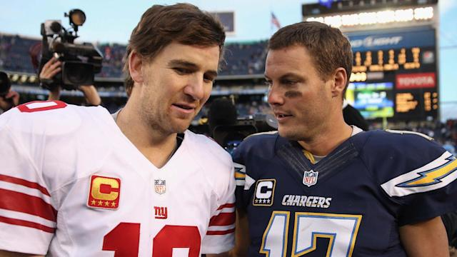 Philip Rivers leapt to the defence of fellow quarterback Eli Manning following his benching by the New York Giants.
