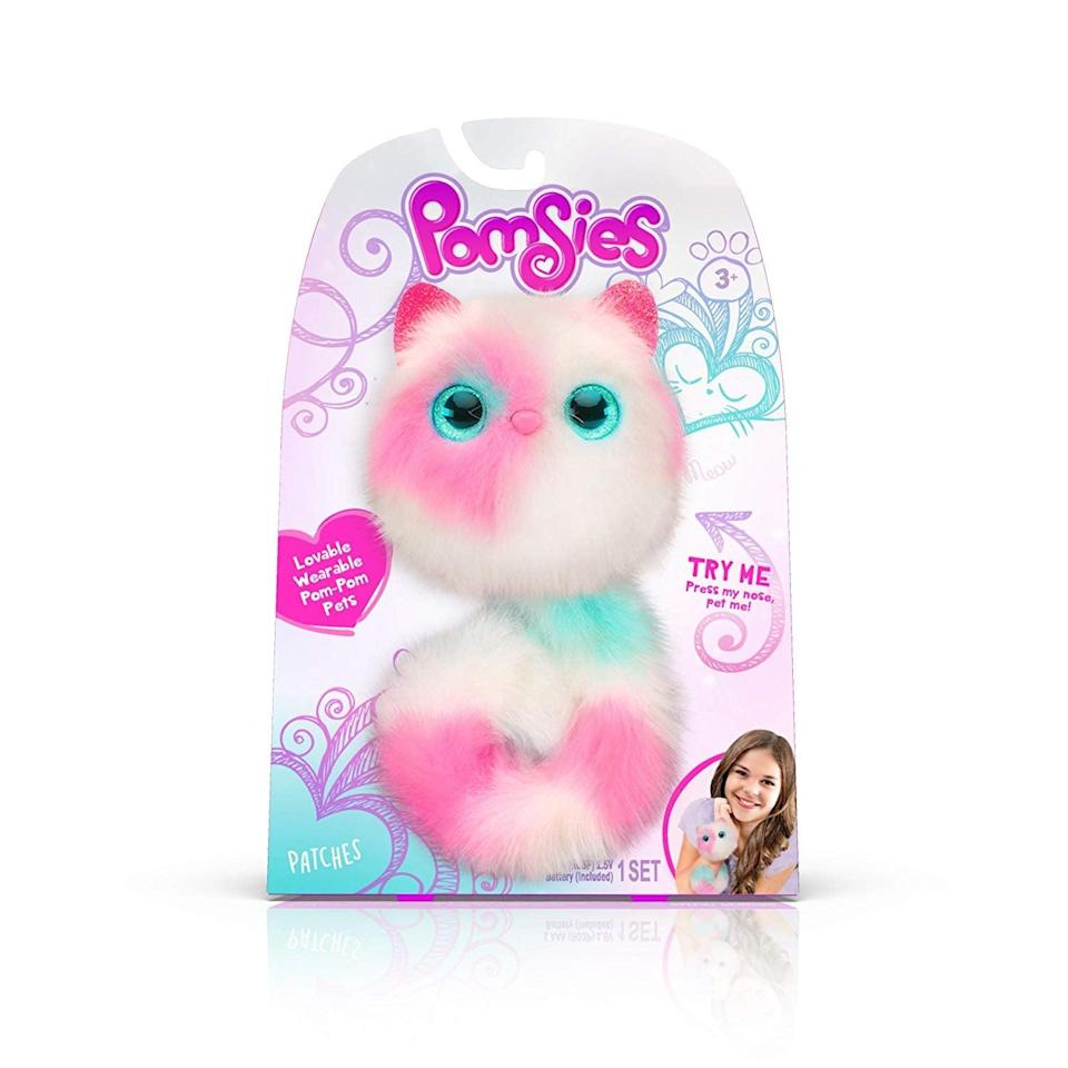 <p><span> Pomsies Patches Plush Interactive Toy </span> ($14) will tell your child when they feel tired, cold, or hungry with adorable light-up eyes, purring, and cute sounds. If they're nurturing or love animals, this is a great gift.</p>