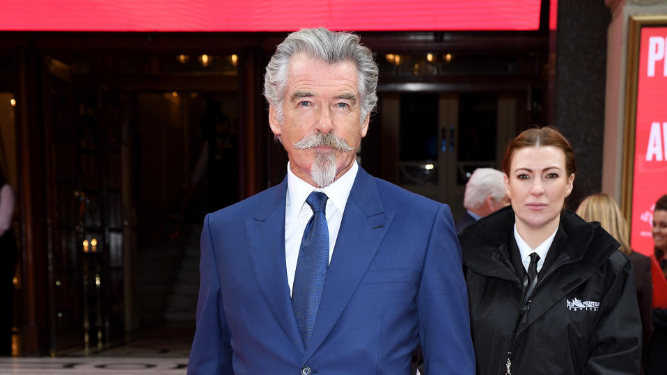 Pierce Brosnan attends the Prince's Trust and TK Maxx & Homesense Awards on March 11, 2020. (Photo by Karwai Tang/WireImage)