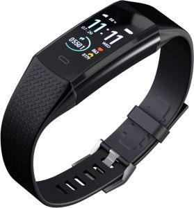 KoreTrak tracker is a smartwatch that tracks fitness, activity, and heart rate while providing all the features that come with an ordinary smartwatch.