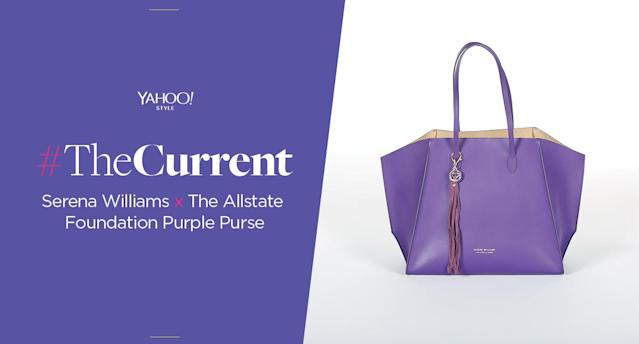 The Allstate Foundation Purple Purse, a collaboration with tennis star Serena Williams. (Photo: Allstate Foundation Purple Purse)