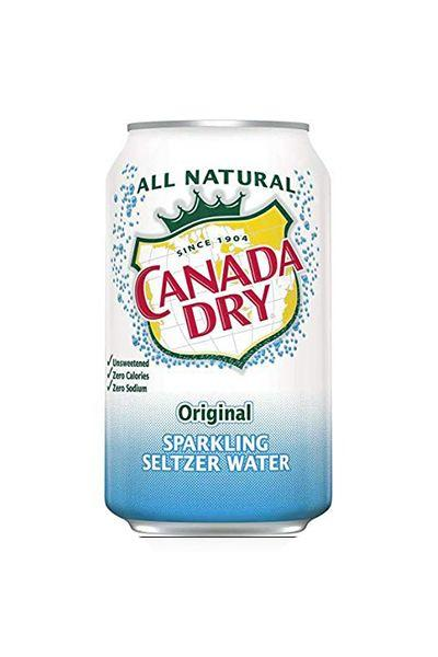 """<p><strong>Canada Dry</strong></p><p>amazon.com</p><p><a href=""""https://www.amazon.com/dp/B07NWXHBNR?tag=syn-yahoo-20&ascsubtag=%5Bartid%7C10055.g.29443085%5Bsrc%7Cyahoo-us"""" target=""""_blank"""">Shop Now</a></p><p>If you're all about the fizz, opt for a cold can of Canada Dry's seltzer, full of big round bubbles.</p>"""