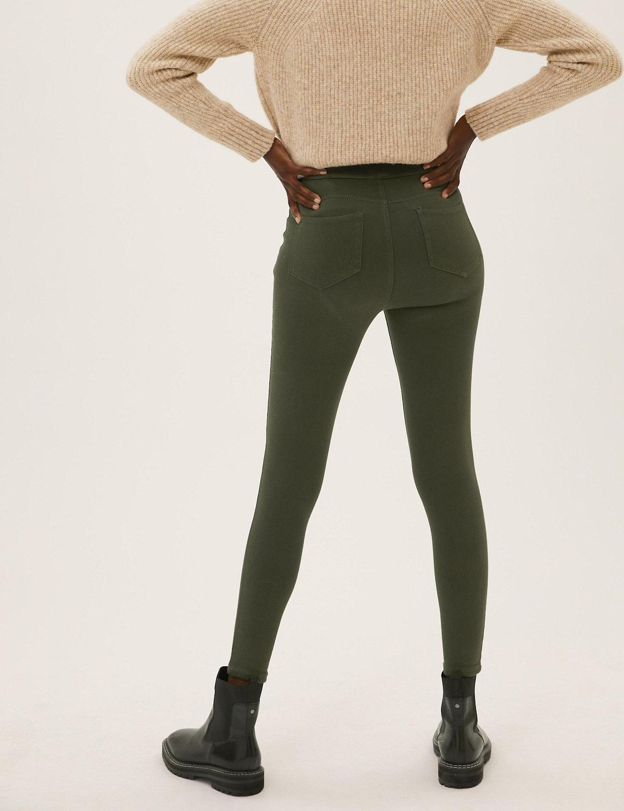 They're made from super-stretch fabric and finished with a comfy elasticated waistband.(Marks & Spencer)