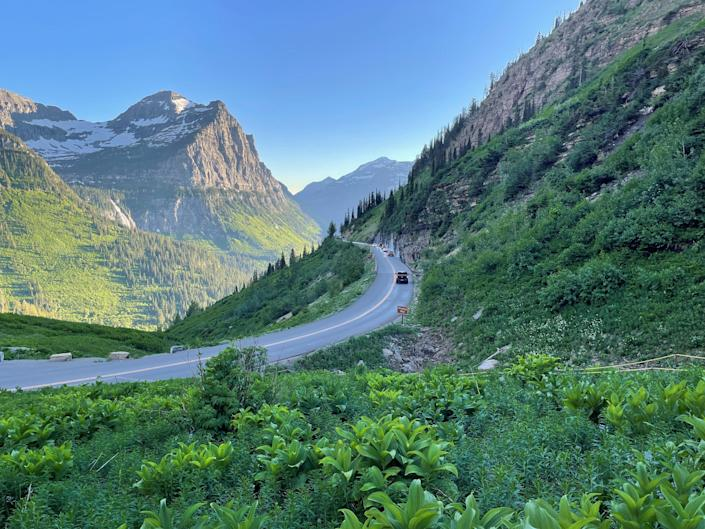 Though portions of the road are open year round, Going-to-the-Sun Road in Glacier National Park is only fully open a few months each year, typically from late June to October. It offers visitors spectacular views as it winds through 51 miles of Glacier National Park in Montana.