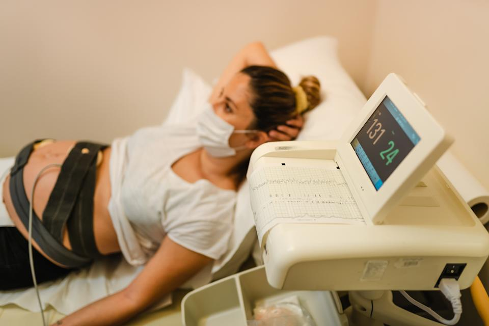 Many women are still attending scans and appointments alone due to coronavirus restrictions. (Image posed by model, Getty Images)