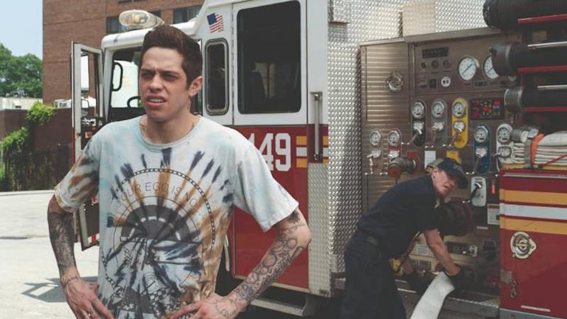Steve Buscemi (right) plays a fireman who helps Pete Davidson's character to know more about his late dad