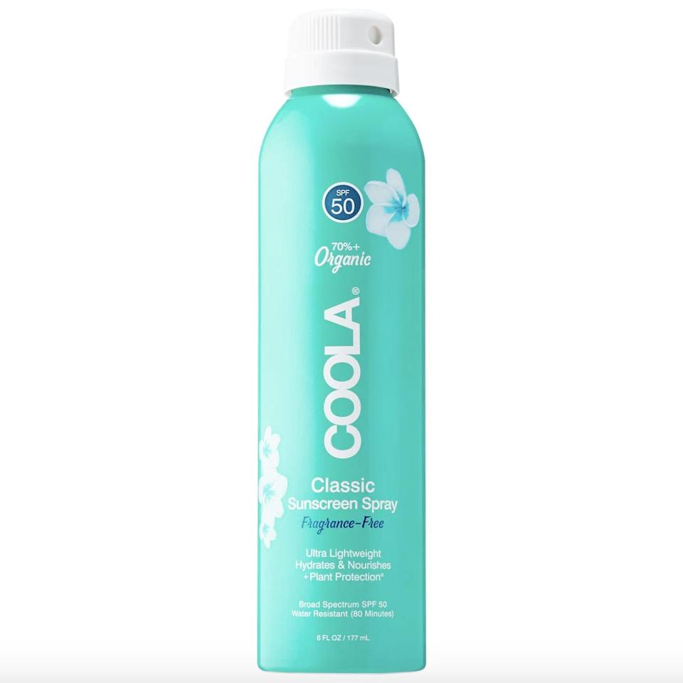 <p>If you prefer spray sunscreens, then the popular <span>Coola Organic Classic Body Sunscreen Spray SPF 30</span> ($25) is a great choice for you.</p>