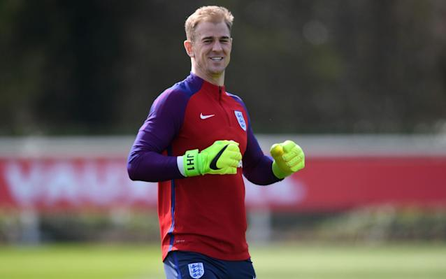 <span>Joe Hart is expected to captain England against Lithuania at Wembley</span> <span>Credit: Getty Images </span>