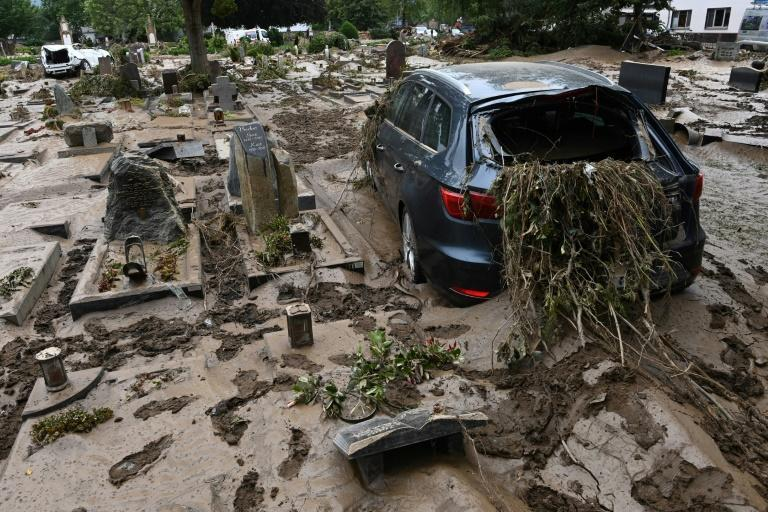 Western Germany has suffered the most brutal impact of the deluge
