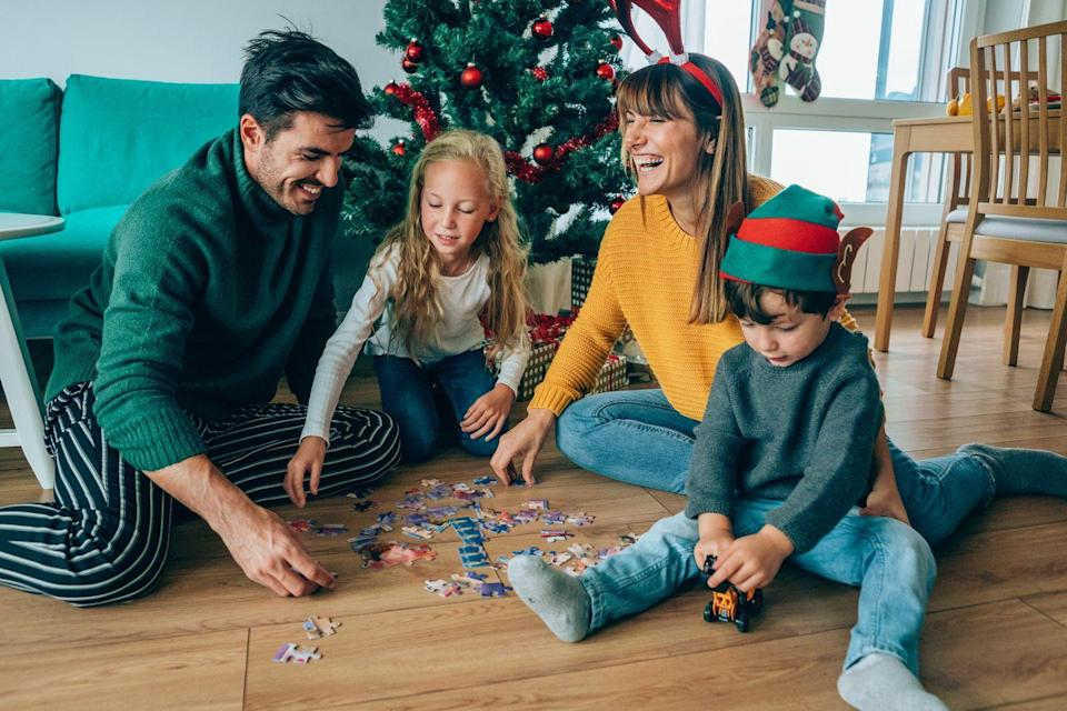 "<p>Puzzles are a great way to keep yourself—and the kids—occupied this holiday season. Pick one up that has a nice wintery scene to set the mood for the big day.</p><p><a class=""link rapid-noclick-resp"" href=""https://www.amazon.com/Ceaco-Thomas-Kinkade-Holiday-Sleigh/dp/B08MBJZVLH/?tag=syn-yahoo-20&ascsubtag=%5Bartid%7C10063.g.34864266%5Bsrc%7Cyahoo-us"" rel=""nofollow noopener"" target=""_blank"" data-ylk=""slk:SHOP HOLIDAY PUZZLES"">SHOP HOLIDAY PUZZLES</a></p>"