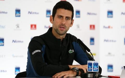 <span>Novak Djokovic, the chairman of the player council, suggested last year that tennis should have a player's union that is separate from the ATP</span> <span>Credit: Getty </span>