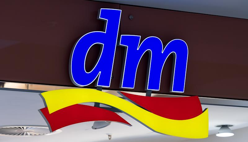 DORTMUND, GERMANY - MARCH 24: (BILD ZEITUNG OUT) The Logo of Dm is seen on the external facade of the Dm Store at the Thier Galerie Center Dortmund on March 24, 2020 in Dortmund, Germany. (Photo by Alex Gottschalk/DeFodi Images via Getty Images)