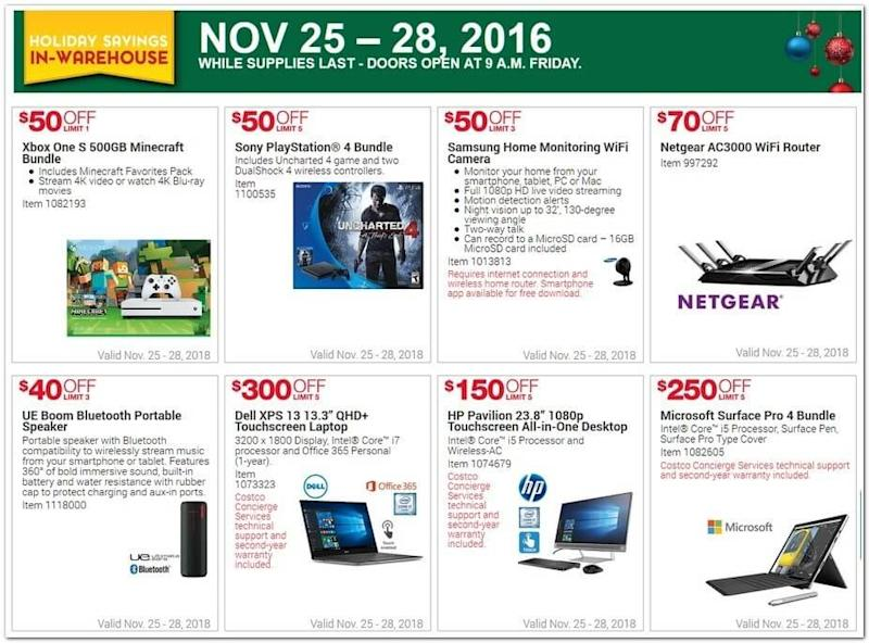 Costco's Black Friday 2016 ad leaks: Discounts on PS4s