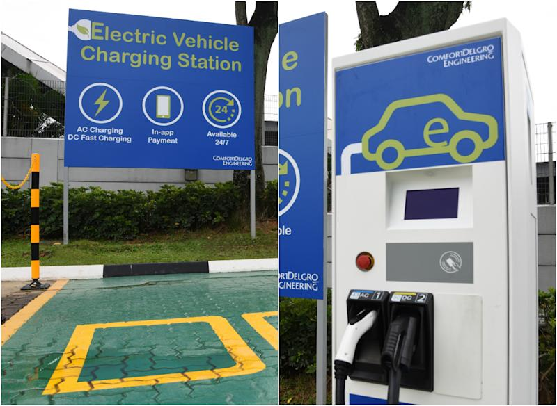 The charging station will allow two vehicles to be charged at once.