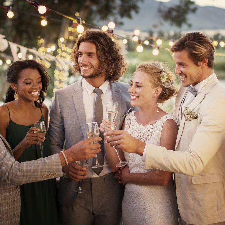 <p>The happy couple is doing their best to greet all of their guests, which is no simple feat. Make sure you're not taking up too much of their time when you say hello.</p>