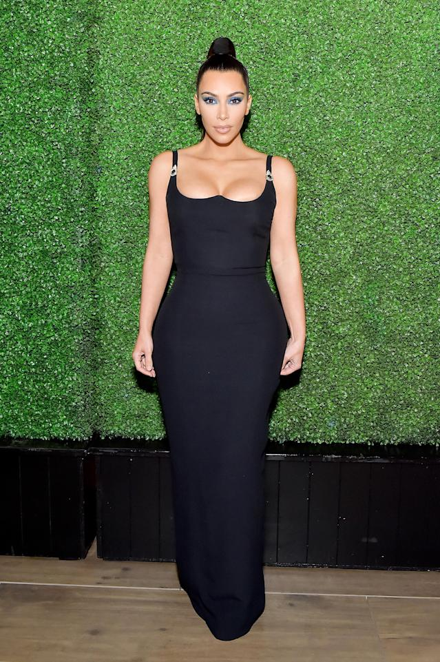 Kim Kardashian at the KKW X Mario dinner at Jean-Georges Beverly Hills on March 31, 2018. (Photo: Stefanie Keenan/WireImage)