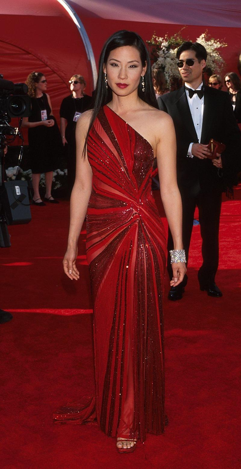 In a Versace gownat the 72nd annual Academy Awards in Los Angeles, March 26, 2000.