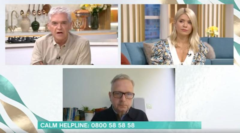Phillip shared his own experiences during a discussion of mental health (Photo: ITV)