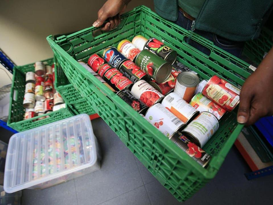 <p>In mid-2020, 47 per cent of peopleusing food banks were indebted to the DWP,making it the most common creditor to this cohort</p> (PA)