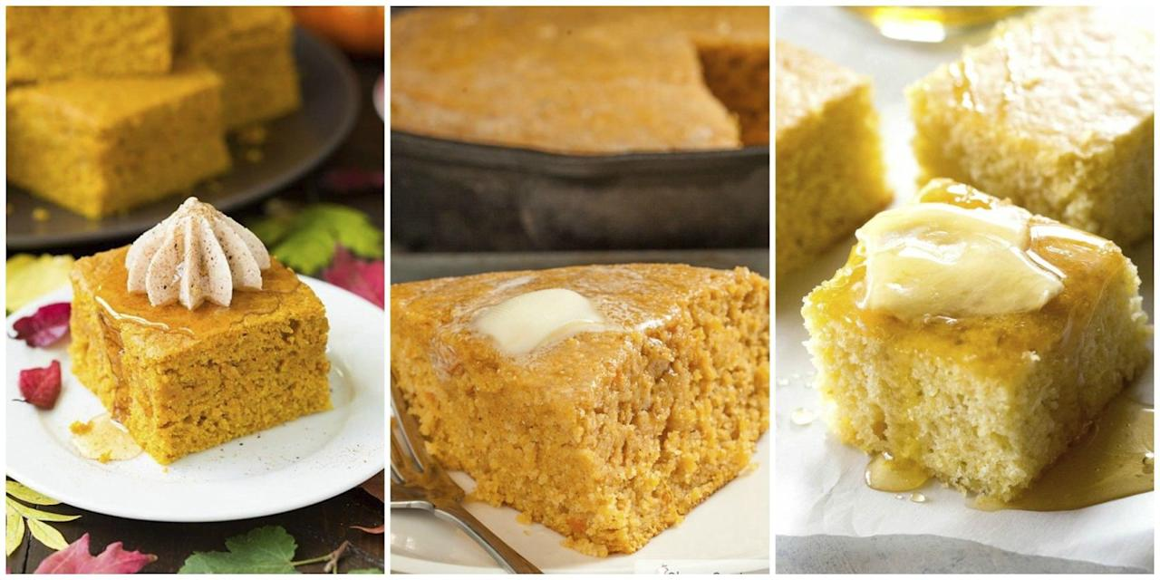 <p>This rich and crumbly side dish is perfect for breakfast, dinner, dessert, holiday meals, and more. Here you'll find our favorite cornbread recipes featuring irresistible ingredients like pumpkin, blueberry, and jalapeño.</p>