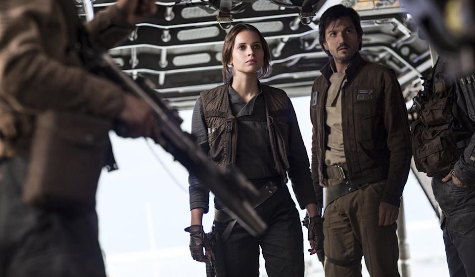 Felicity Jones and Diego Luna in 'Rogue One' - Credit: OutNow