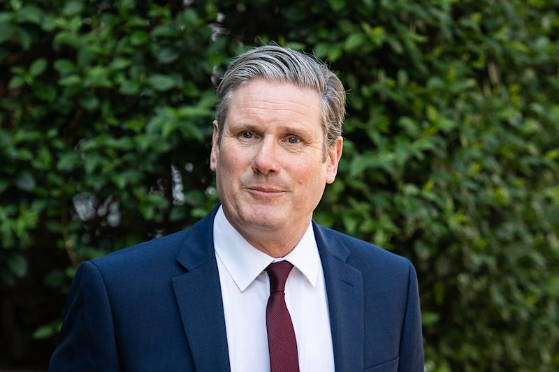 LONDON, ENGLAND - APRIL 22: Labour Party leader SIr Keir Starmer leaves his home ahead of his first PMQ session, on April 22, 2020 in London, England. As Prime Minister Boris Johnson continues his recovery from the effects of COVID-19, Starmer will face the Foreign Secretary Dominic Raab in the weekly debate session at the House of Commons. (Photo by Leon Neal/Getty Images)