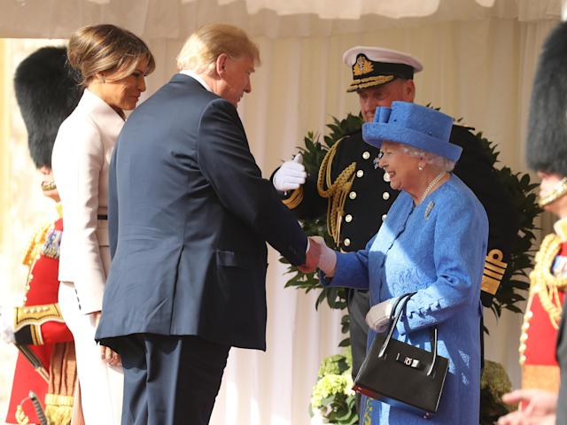 Donald and Melania Trump met Queen Elizabeth for the first time. (Photo: Getty Images)