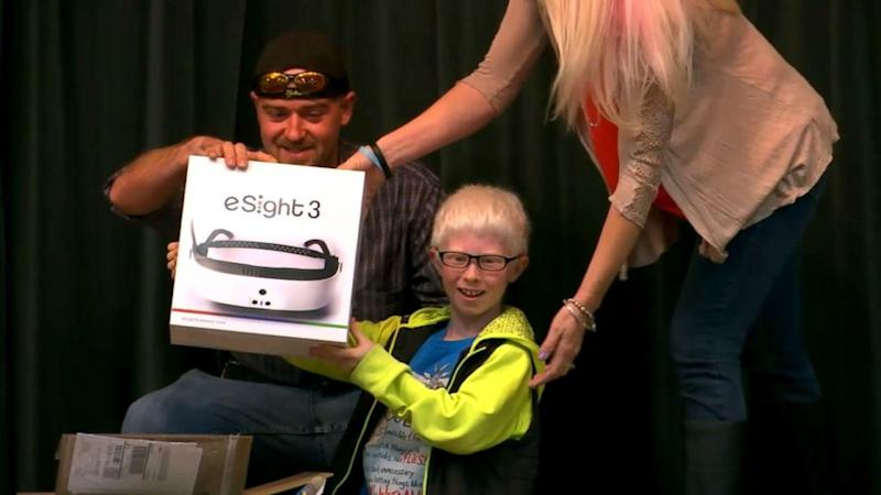 Legally blind 4th-grader gets gift of sight for his birthday