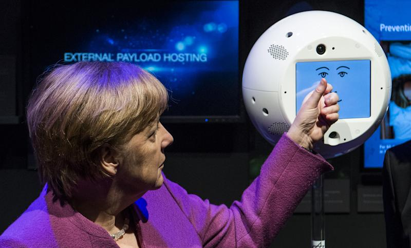"Image result for A ball-shaped artificial intelligence robot nicknamed the ""flying brain"" because it is trained to follow and interact with a German astronaut blasted off Friday toward the International Space Station aboard SpaceX´s Dragon cargo ship. Photo: AFP"