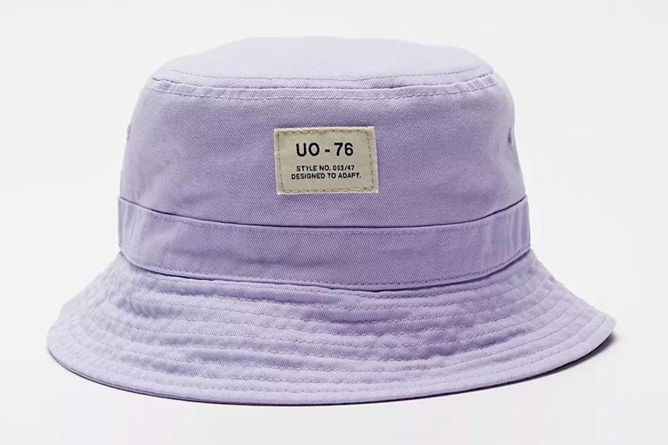 bucket hat, purple, urban outfitters