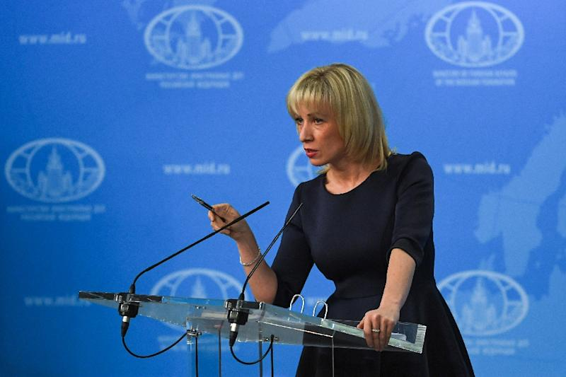 "Russian Foreign Ministry spokeswoman Maria Zakharova has accused Bellingcat of being ""close to the secret services"" and claimed it ""intentionally pumps out disinformation disguised as investigations"" (AFP Photo/Yuri KADOBNOV)"