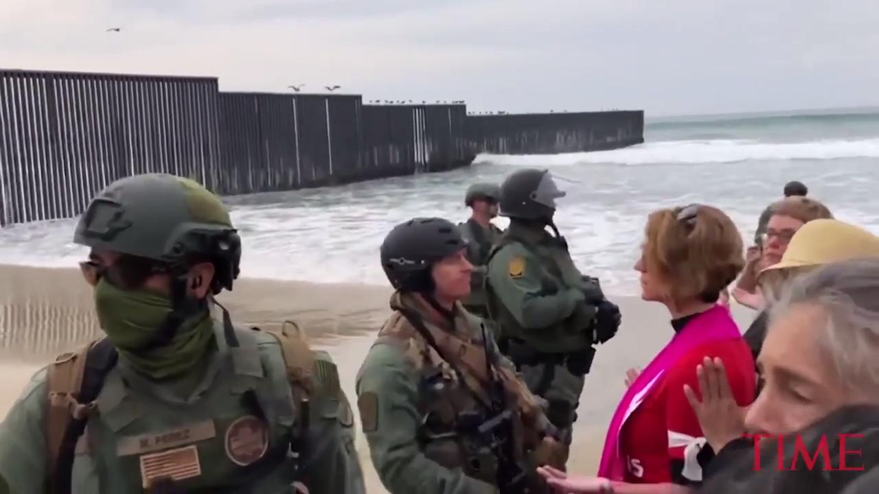 U.S. authorities arrested 32 people at a demonstration Monday that was organized by a Quaker group on the border with Mexico, authorities said.