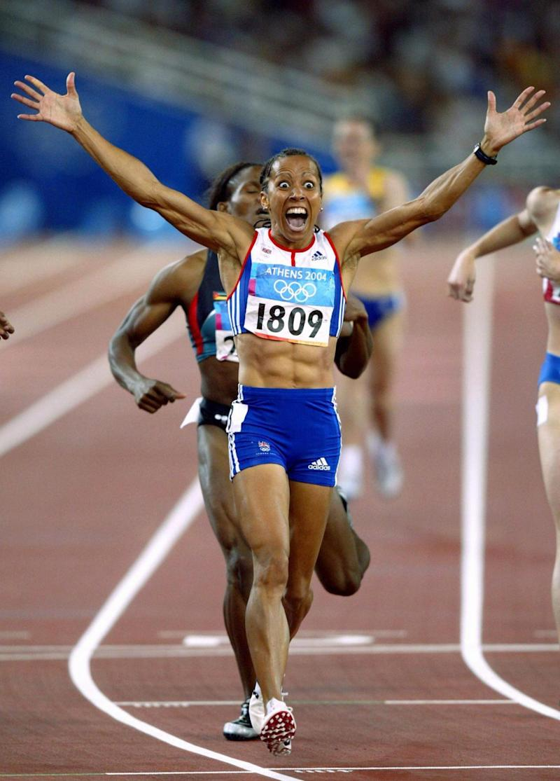 Role model: Dame Kelly Holmes winning the 800 metres at the World Championships in Athens in 2004