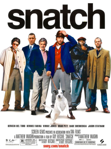 After 'The Man From U.N.C.L.E.' I got tempted to watch another one of Guy Ritchie's movies. This one is a super fun crime comedy, with two plotlines and an assorted cast, including Jason Statham, Brad Pitt and Benicio Del Toro. In a classic Ritchie style, the movie follows a small-time boxing promoter who finds himself under the thumb of a ruthless gangster and the search for a stolen diamond. If you love a fun, fast-paced movie then give this a go.