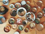 <p>To make it easy, use a cup measure at home to help control your servings. A general example of balanced meal is two cups of veggies and/or fruit, one cup of complex carbohydrates such as rice, yams, or potatoes and three quarters of a cup of lean protein.</p>