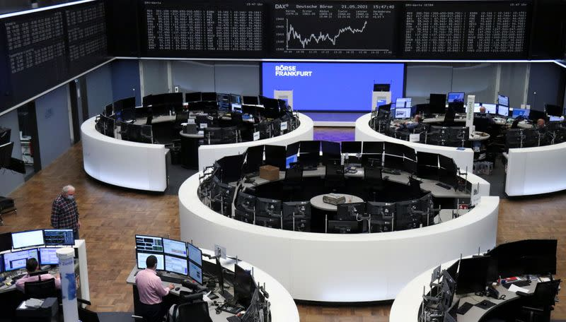 The German share price index DAX graph is pictured at the stock exchange in Frankfurt