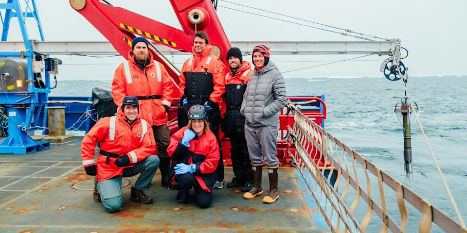 The study's researchers on their expedition to the Arctic Ocean to collect data in 2018. (San Nguyen/Submitted)