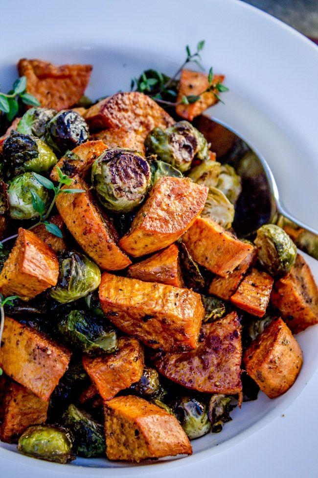 """<p>Add some Brussels sprouts to your sweet potatoes to pump up the flavor of a classic Thanksgiving side. </p><p><strong>Get the recipe at <a href=""""https://thefoodcharlatan.com/roasted-sweet-potatoes-and-brussels-sprouts-recipe/"""" rel=""""nofollow noopener"""" target=""""_blank"""" data-ylk=""""slk:The Food Charlatan"""" class=""""link rapid-noclick-resp"""">The Food Charlatan</a>. </strong></p>"""
