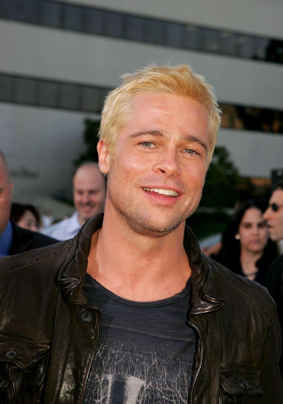 <p><strong>Blonde</strong></p><p>But Pitt also knows how to rock a fashion trend once in a while, as he did when he showed up to the <em>Mr. and Mrs. Smith</em> premiere with freshly-bleached locks back in 2005. </p>
