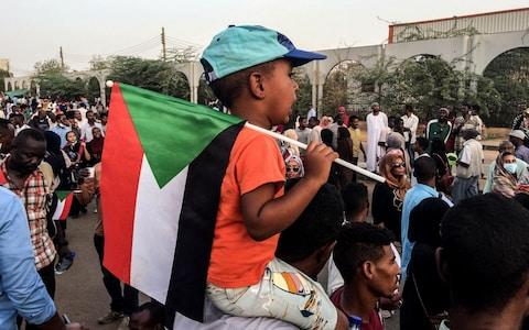 Hundreds of Sudanese protesters maintained their sit-in outside army headquarters in Khartoum for the fifth day in a row - Credit: Stringer/Anadolu Agency/Getty Images