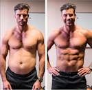 """<p>Even Aussie fitness guru Sam Wood shared these two photos taken five seconds apart. """"Don't get caught up in what other people look like. Photos you see on Instagram and other social platforms are not a real representation of what people look like,"""" he wrote. Photo:Sam Wood </p>"""