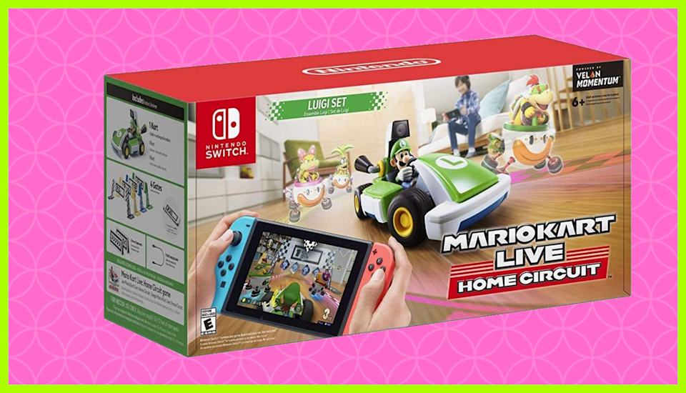 Just $92 for Mario Kart Live: Home Circuit — Luigi Set for Nintendo Switch. (Photo: Amazon)