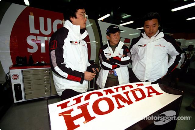 "Ingenieros de Honda <span class=""copyright"">British American Racing</span>"