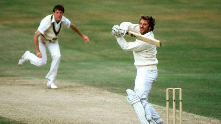 Ian Botham on his way to epic 149 not out
