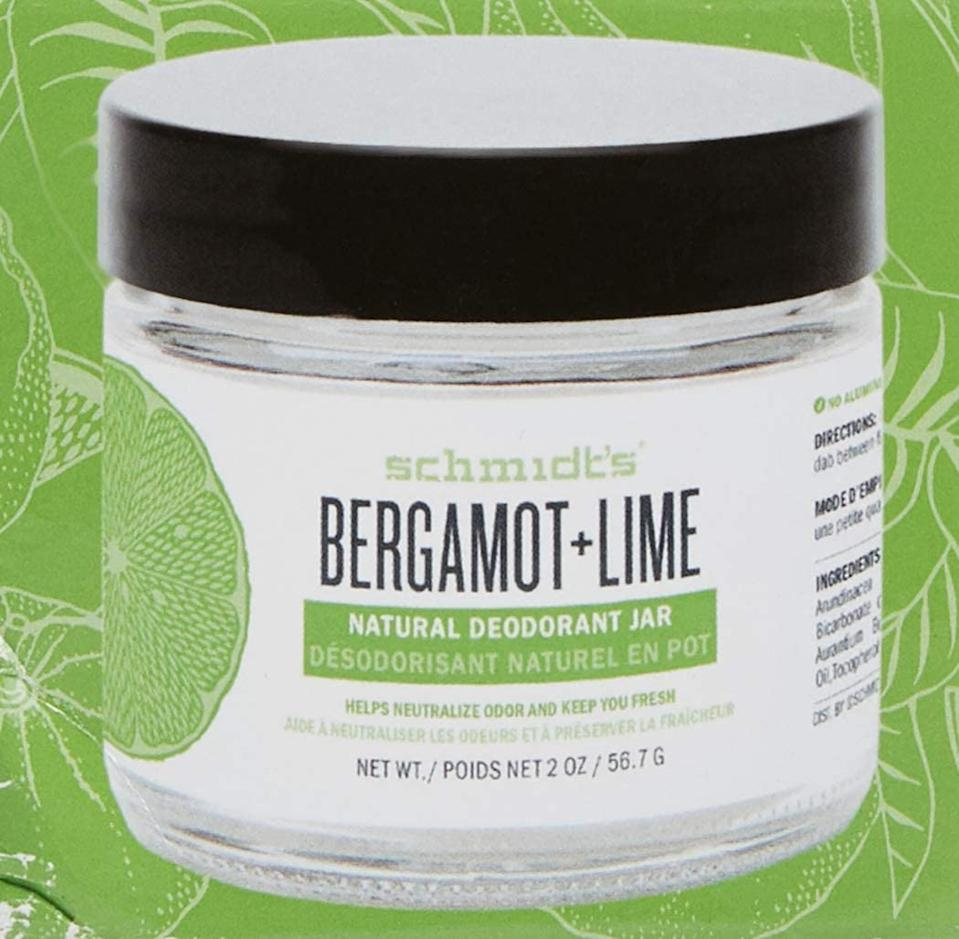 Schmidt's Bergamot+Lime Natural Deodorant Jar. Image via Amazon.