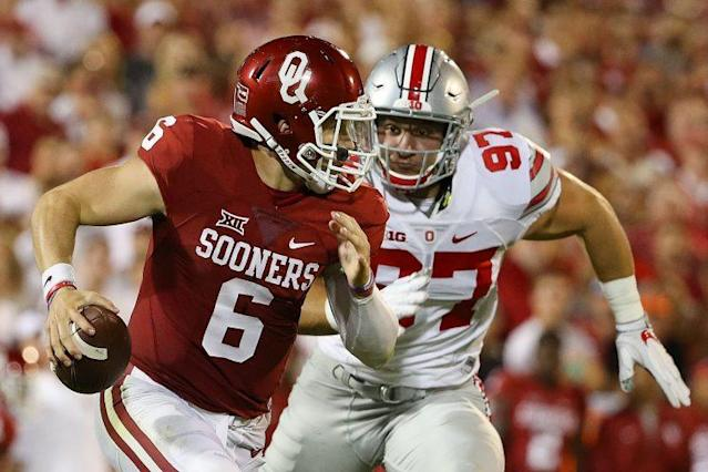 Oklahoma and Ohio State meet in 2017. (Getty)
