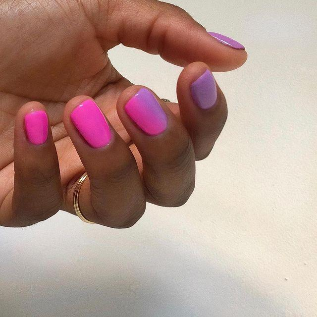 """<p>It's official, neon pink and cool lilac make the ultimate ombre blend. </p><p><a href=""""https://www.instagram.com/p/CAdnePMADyM/"""" rel=""""nofollow noopener"""" target=""""_blank"""" data-ylk=""""slk:See the original post on Instagram"""" class=""""link rapid-noclick-resp"""">See the original post on Instagram</a></p>"""
